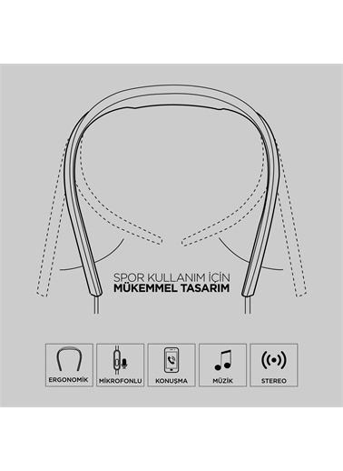 Polo Smart Fs05 Neckband Kablolu Spor Kulaklık Renkli